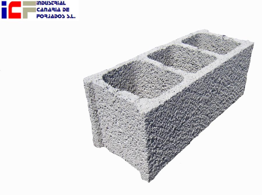 Industrial canaria de forjados s l bloques for Bloques de hormigon medidas